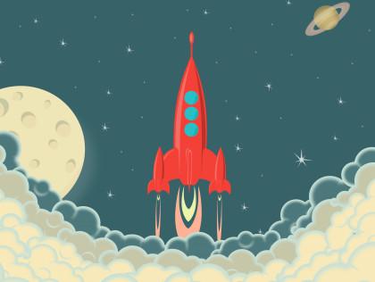 Запуск Ракеты в Космос, Вид из Самолета